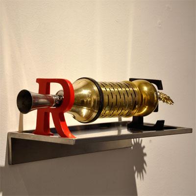 El af mine værk på S.K.A.G. i  Lyngby Kunstforening